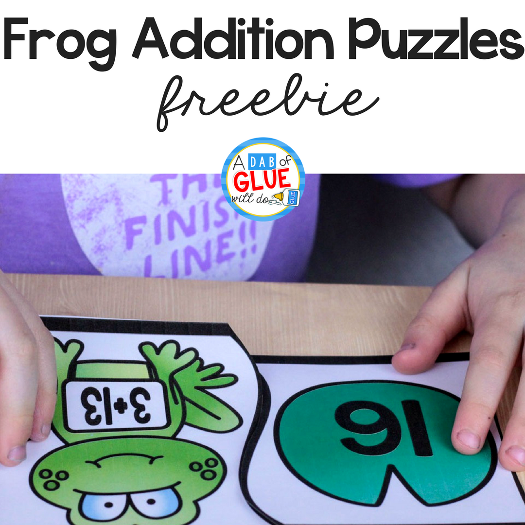 Frog Addition Puzzles In