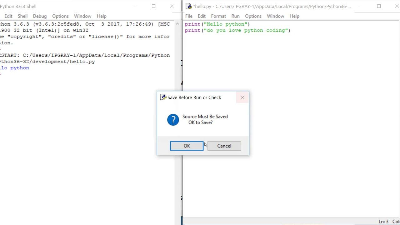 IPGRAY : python - How to use python IDLE shell in windows