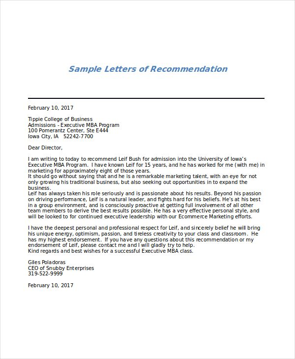 letter of recommendation for mba from professor sle News to Go 4