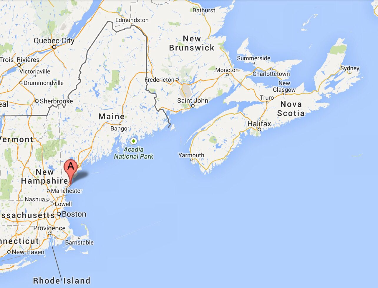 map of nova scotia and maine York Maine Is Not That Far From Nova Scotia Canada Nova map of nova scotia and maine