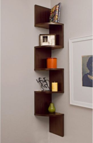 Corner Wall Mount Shelf Display Storage Chest Furniture Book Office Shelves