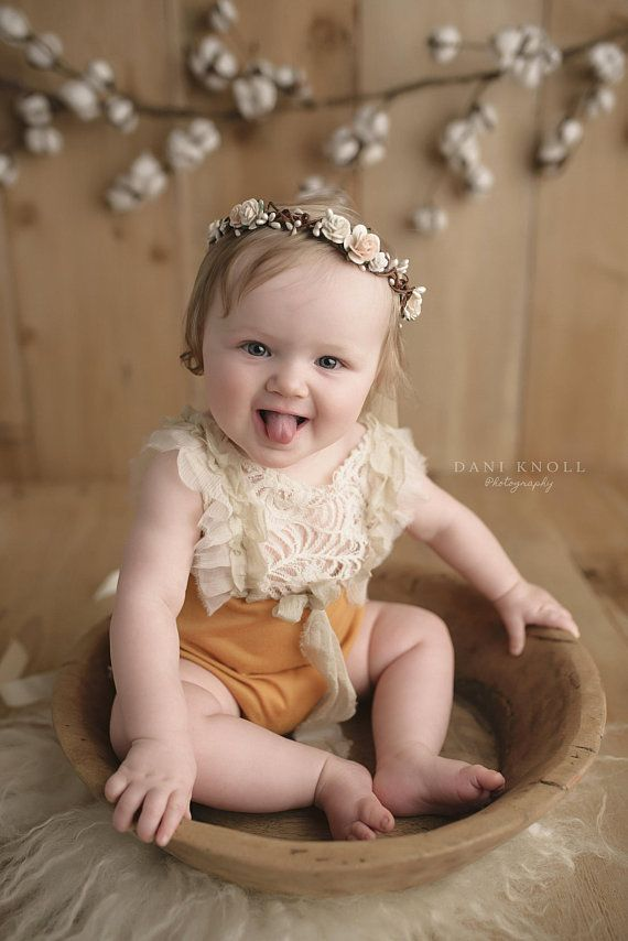 Blush First Birthday Flower Crown Baby and Girls Flower Headband Toddler  Hair Crown Peach Floral Hai dd3d50ac561