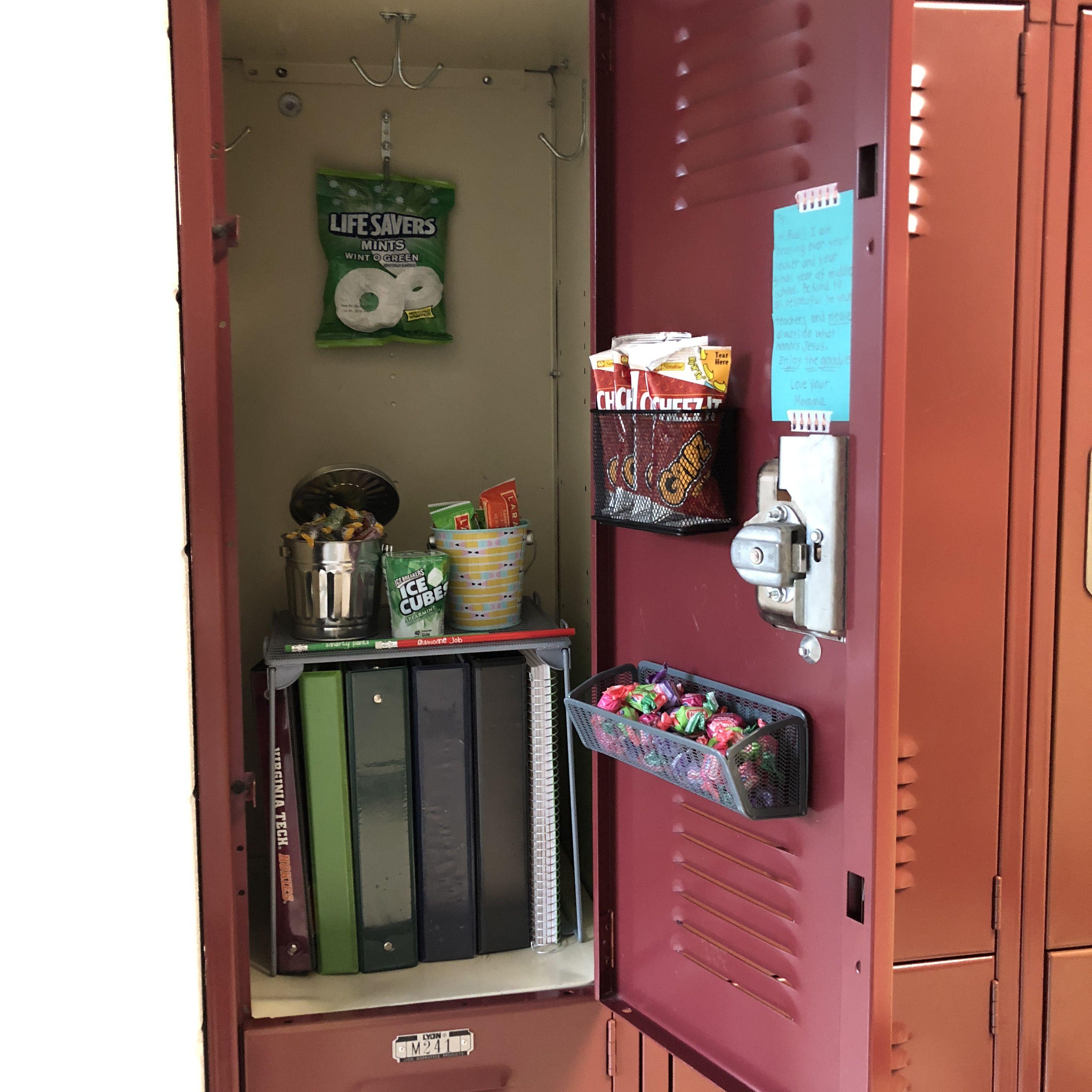 Ty 8th Grade! School locker organization