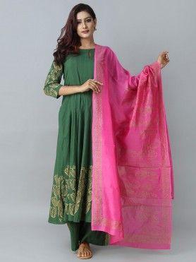 Suit for Women   Buy Designer   Printed Suit Sets Online - The Loom.  Bageecha Cotton Silk ... f338983c4b