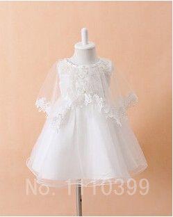 d6bfb883c369 3pcs/set Newborn Baby Christening Gown Infant Girl White Princess Lace  Baptism Dress Toddler Baby Girl Chiffon Dresses