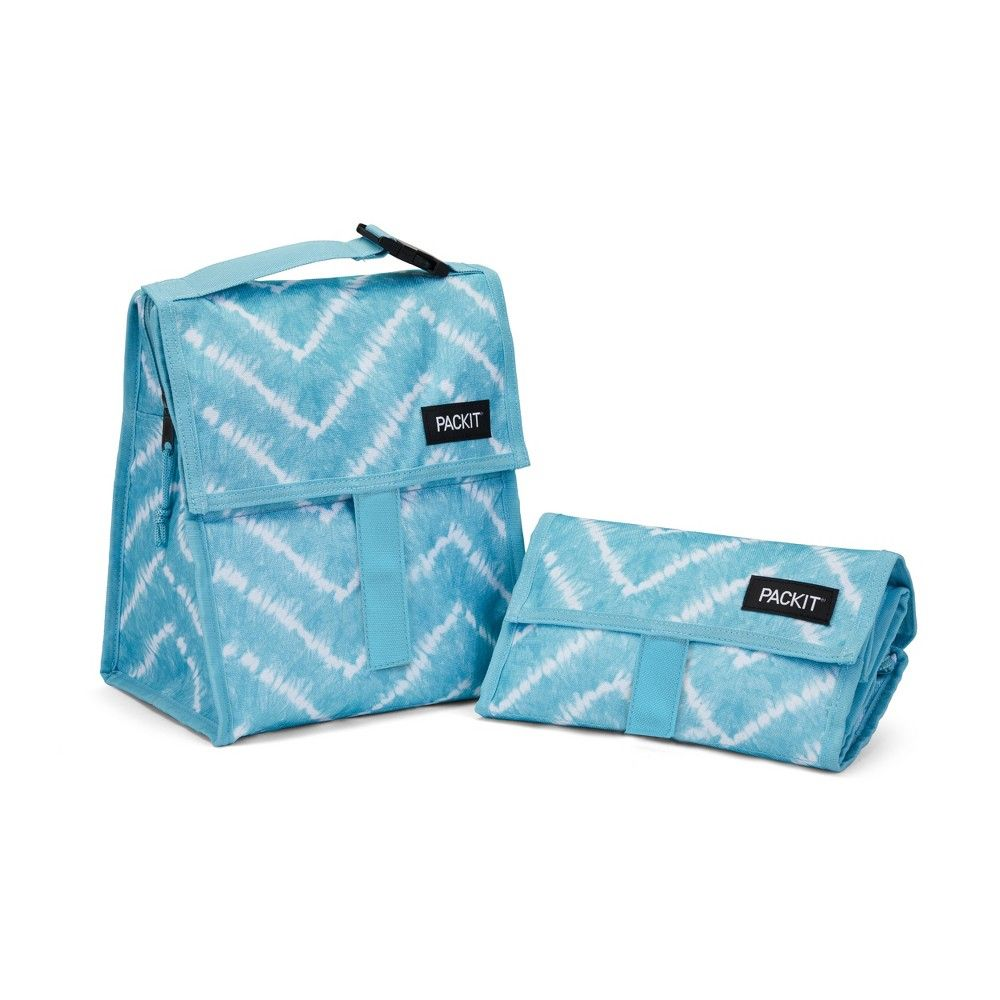 Packit Freezable Lunch Bag Zig Zag Tye Dye Kids Lunch Bags