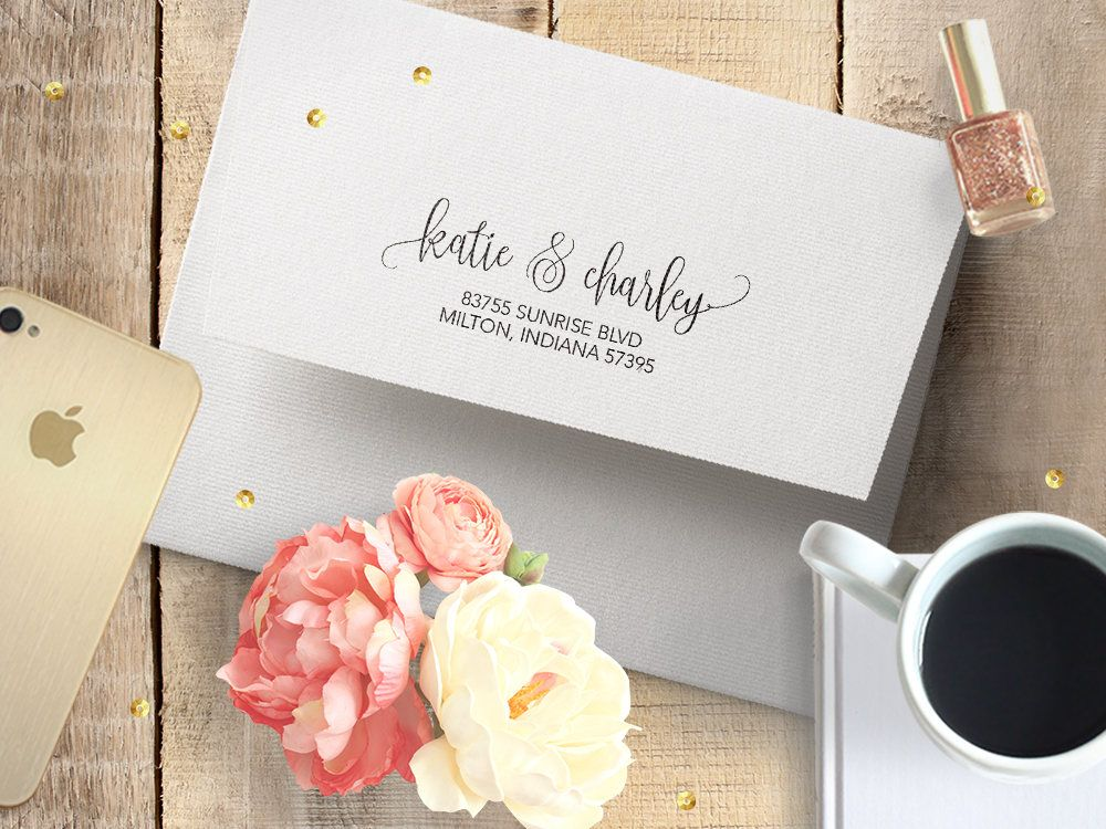It's just an image of Gorgeous Newlywed Return Address Labels