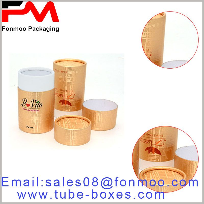 Gold Round Cardboard Boxes Packaging Wholesale Cosmetic Round Gift