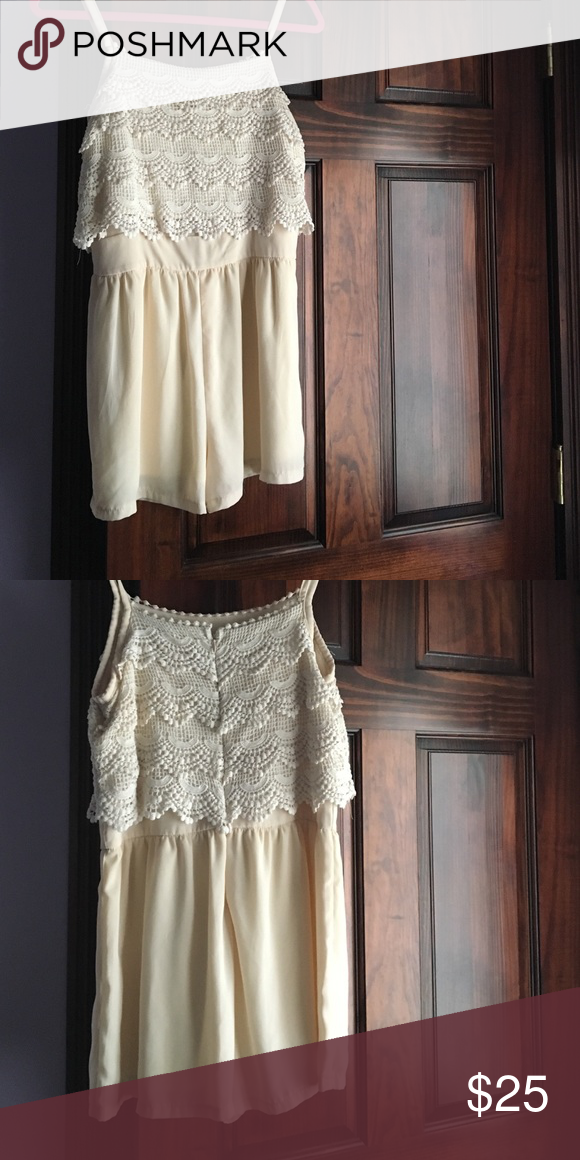 1b9e9d956711 Lace romper White cream Lace romper spaghetti strap. Only worn once in  great condition! Must have for the summer! Monteau Dresses