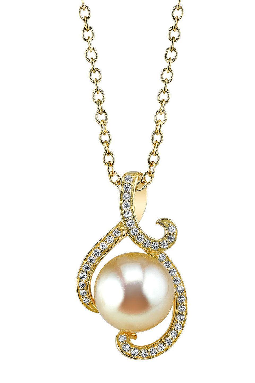 A beautiful11mm golden south sea pearl pendant modern jewelry a beautiful11mm golden south sea pearl pendant aloadofball Images
