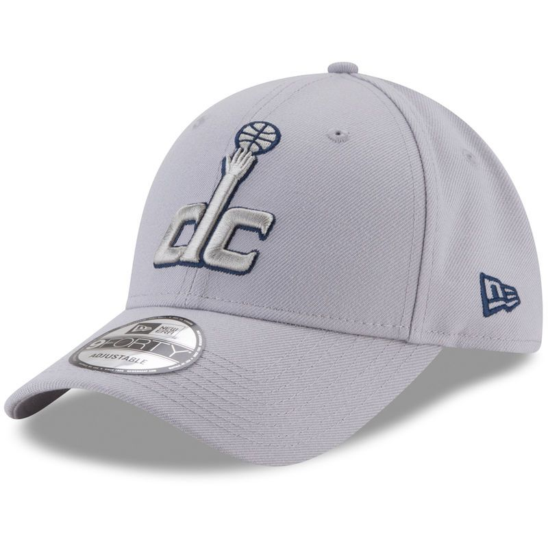 online store 3679e 913bb Washington Wizards New Era 9FORTY Adjustable Hat - Gray