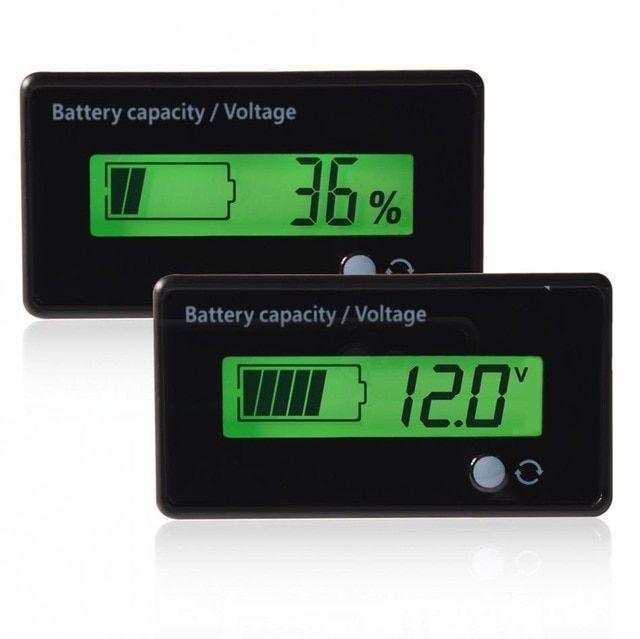 12V-84V Lead-acid Battery Capacity Indicator Voltage Meter Voltmeter LCD Monitor
