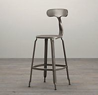cute french t back counter stool gun metal veranth ideas
