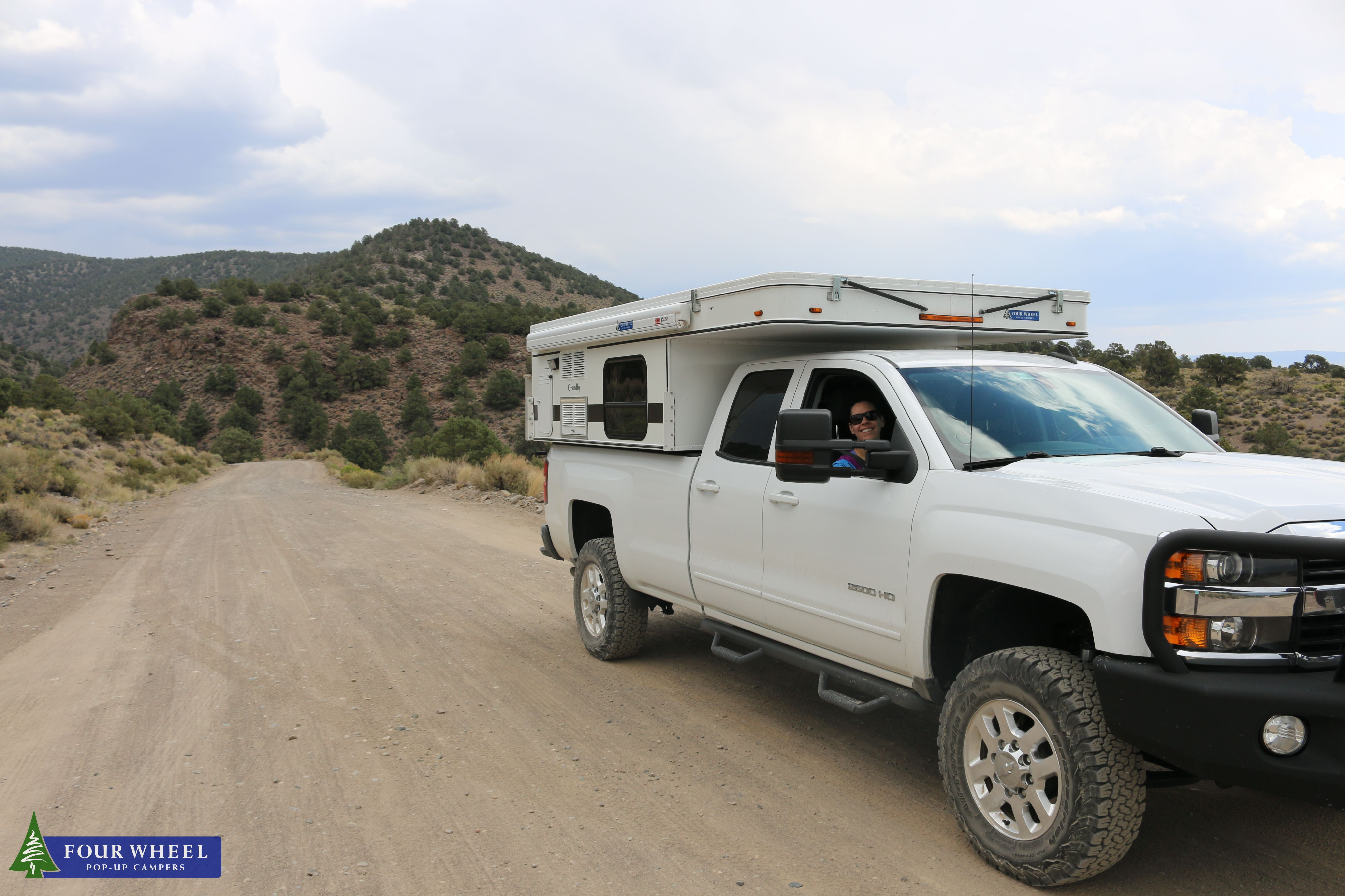 Mobile Lifestyle In The Slide In Truck Camper On A Semi Desert