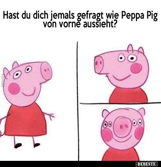 Hast du dich jemals gefragt wie Peppa Pig von vorne.. #peppapig