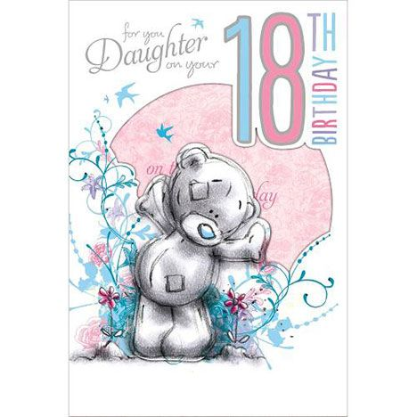 18th Birthday Daughter Me To You Bear Card Y Ity