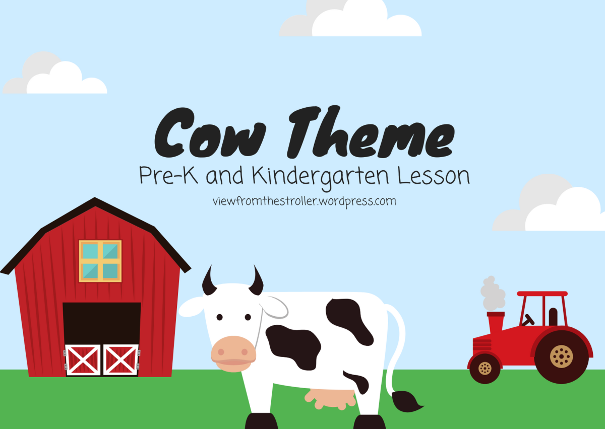 View From Homeschool Cow Theme Lesson For Pre K And