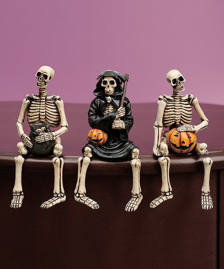 Skeleton Shelf Sitter Figurine Set