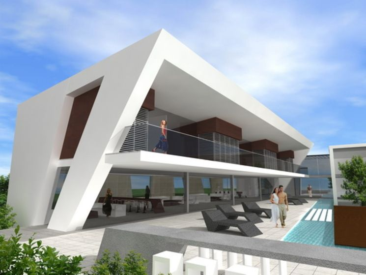Vivienda unifamiliar golf de lbl arquitectos - Fachadas viviendas unifamiliares ...