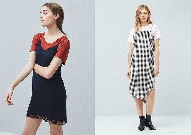 Tú decides: slip dress + camiseta,
