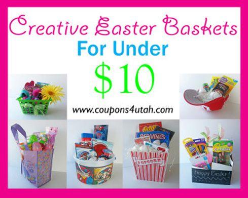 No Candy Easter Basket Ideas Under 10 Coupons 4 Utah Candy Easter Basket Creative Easter Baskets Easter Basket Diy