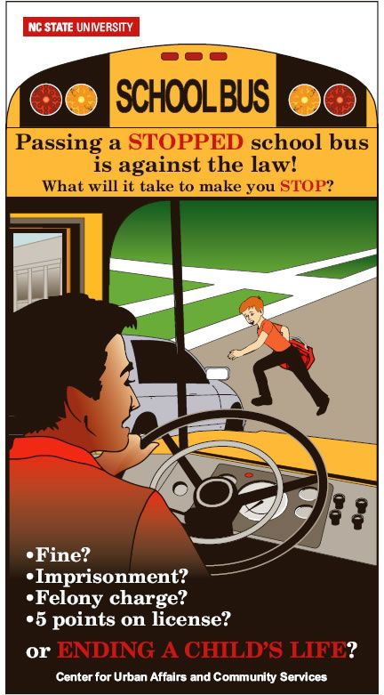 School Bus Danger Zones Graphic School Bus Safety School Bus