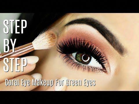 168 beginner eye makeup tips  tricks  coral peach eye