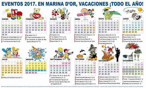 Calendario Marina Dor Marinador Ciudaddevacaciones Agosto