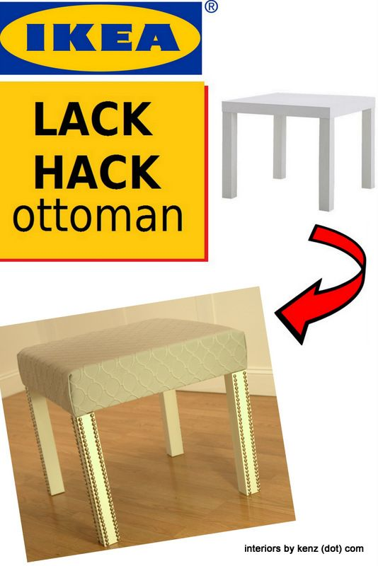 ikea lack hack ottoman ikea hackers pinterest m bel diy m bel und deko. Black Bedroom Furniture Sets. Home Design Ideas