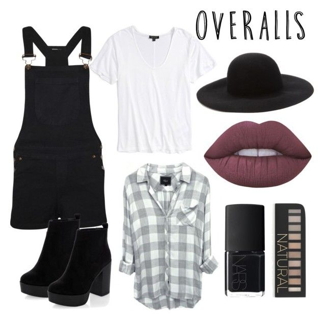 """""""Untitled #1"""" by machasoccio on Polyvore featuring Topshop, WearAll, New Look, Forever 21, Lime Crime, NARS Cosmetics, TrickyTrend and overalls"""