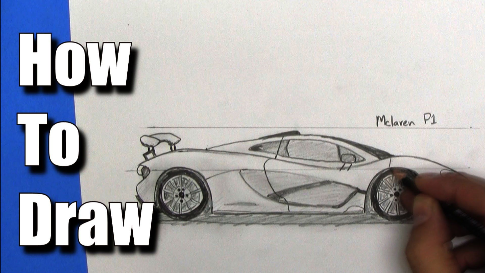 How To Draw a McLaren P1 Sports Car - Step By Step ...