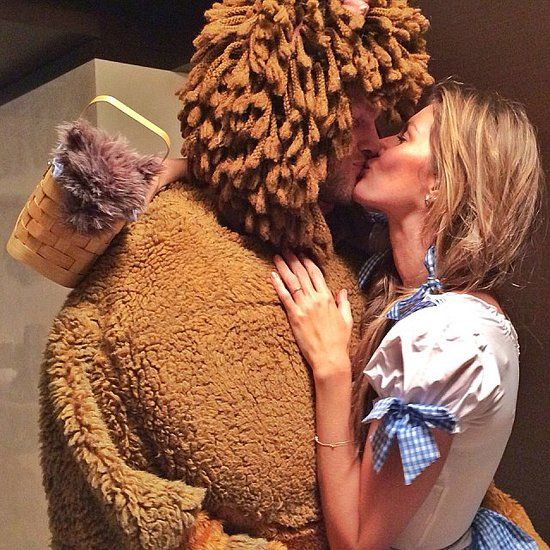 Stars Get Spooky With Their Halloween Candids: Gisele Bündchen and Tom Brady made an adorable pair for Halloween, dressing as Dorothy and the lion from The Wizard of Oz. Source: Instagram user giseleofficial