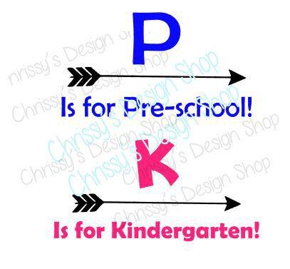 Kindergarten SVG / Pre school SVG / arrow svg / Preschool svg / svg download / back to school svg / school svg / vinyl crafts / school