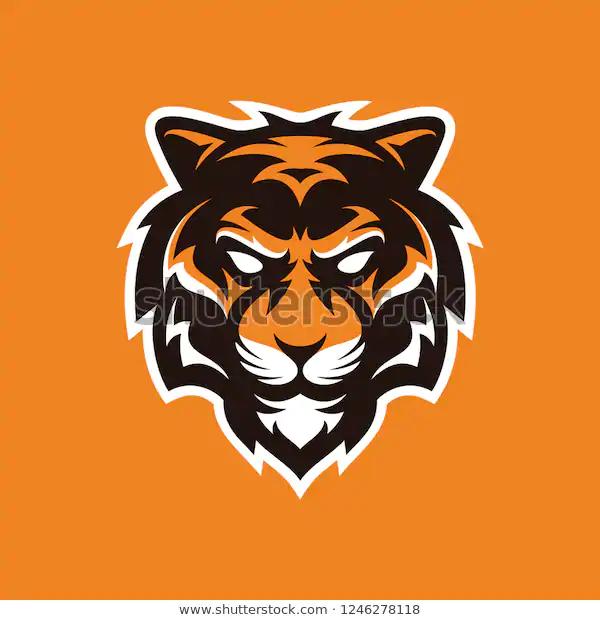 Tiger Head Logo Fitness Sport Crossfit Gym Animal Mark Logo Bengal Wildcat Cat Tiger White Pet Logo Design Tiger Logo Cat Logo