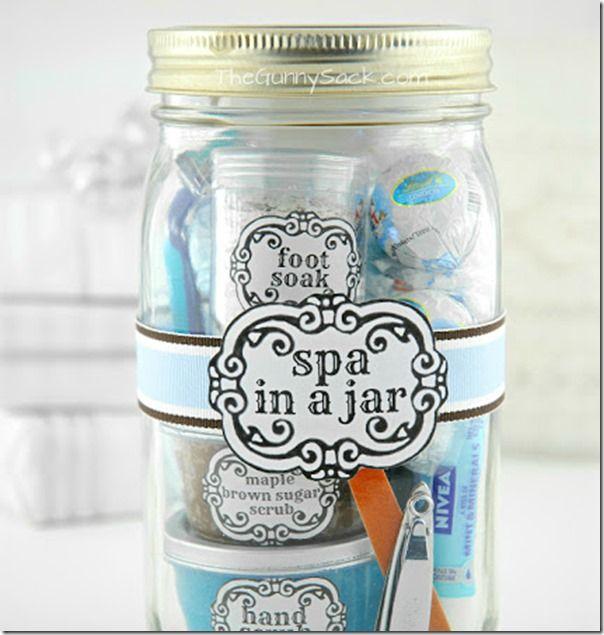 spa in a jar mason jar crafts spa and craft
