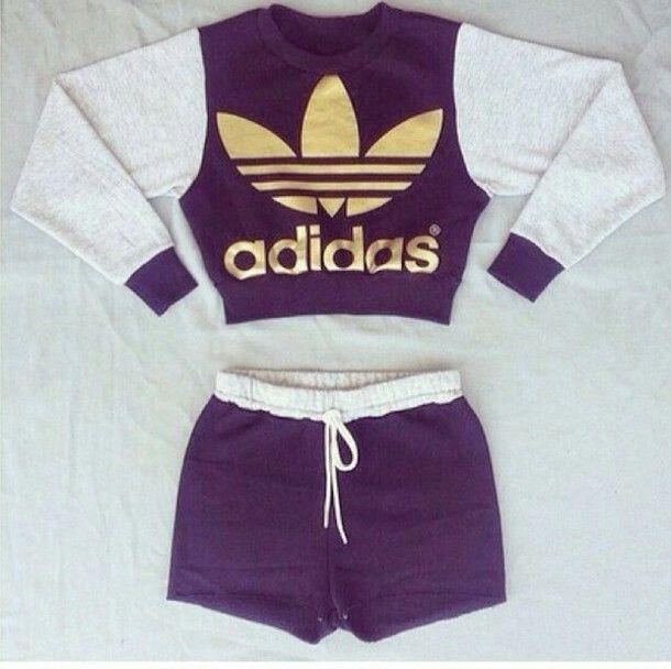 Adidas shorts and cropped jumper