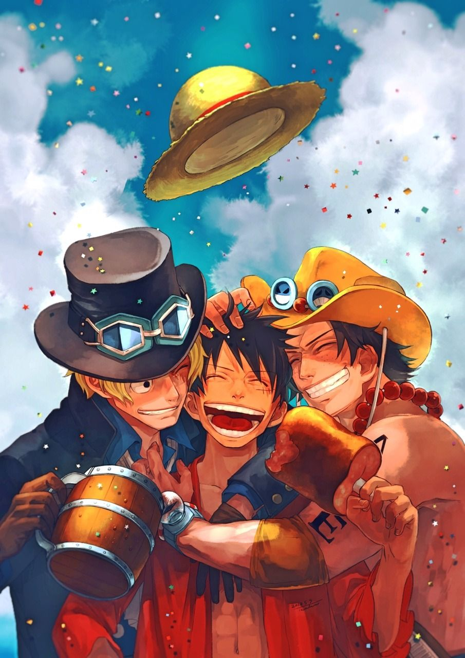 Photo of Tags: Fanart, ONE PIECE, Monkey D. Luffy, Portgas D. Ace, Sabo, One Piece: Two Y…