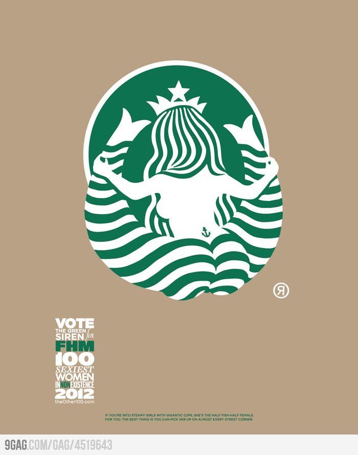 Starbucks Logo From The Back My 9gag Faves Starbucks Logo