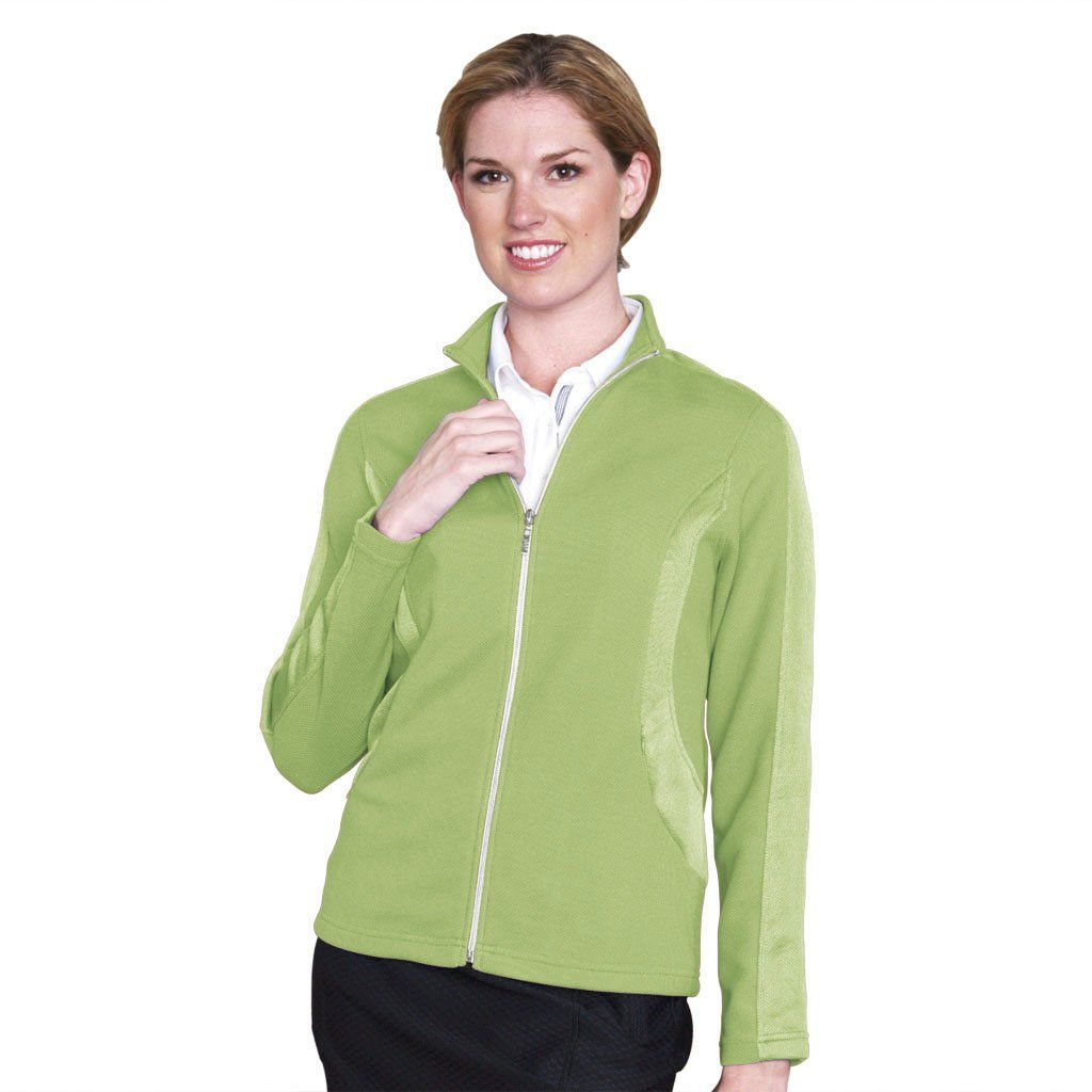 These Great Value Womens Texture Colorblock Inset Golf Jackets By Monterey Club Come With A Shimmer Contrast Design In 2020 Golf Jackets Player Clothes Golf Outfit