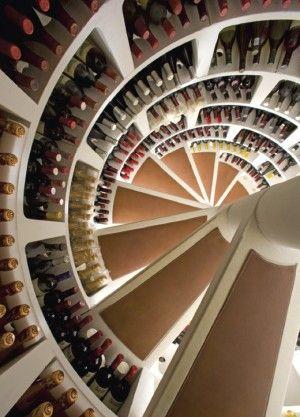 Spiral Wine Cellar Spiral Wine Cellar House Interior Wine Storage