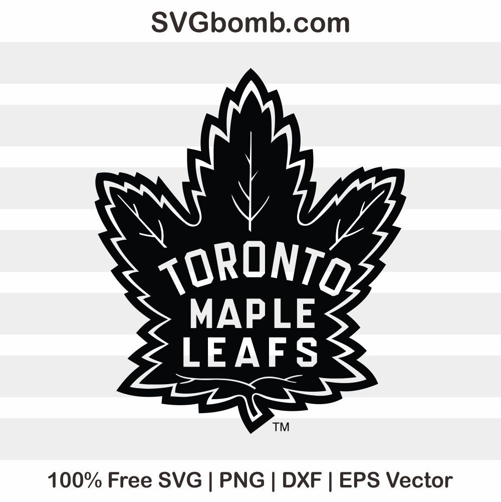 Freesvg Vector Silhouttecameo Svgcutfile Dxf Eps Freevector Dxffile Cutfile Free Vector Svg This F Toronto Maple Leafs Logo Maple Leafs Toronto Maple