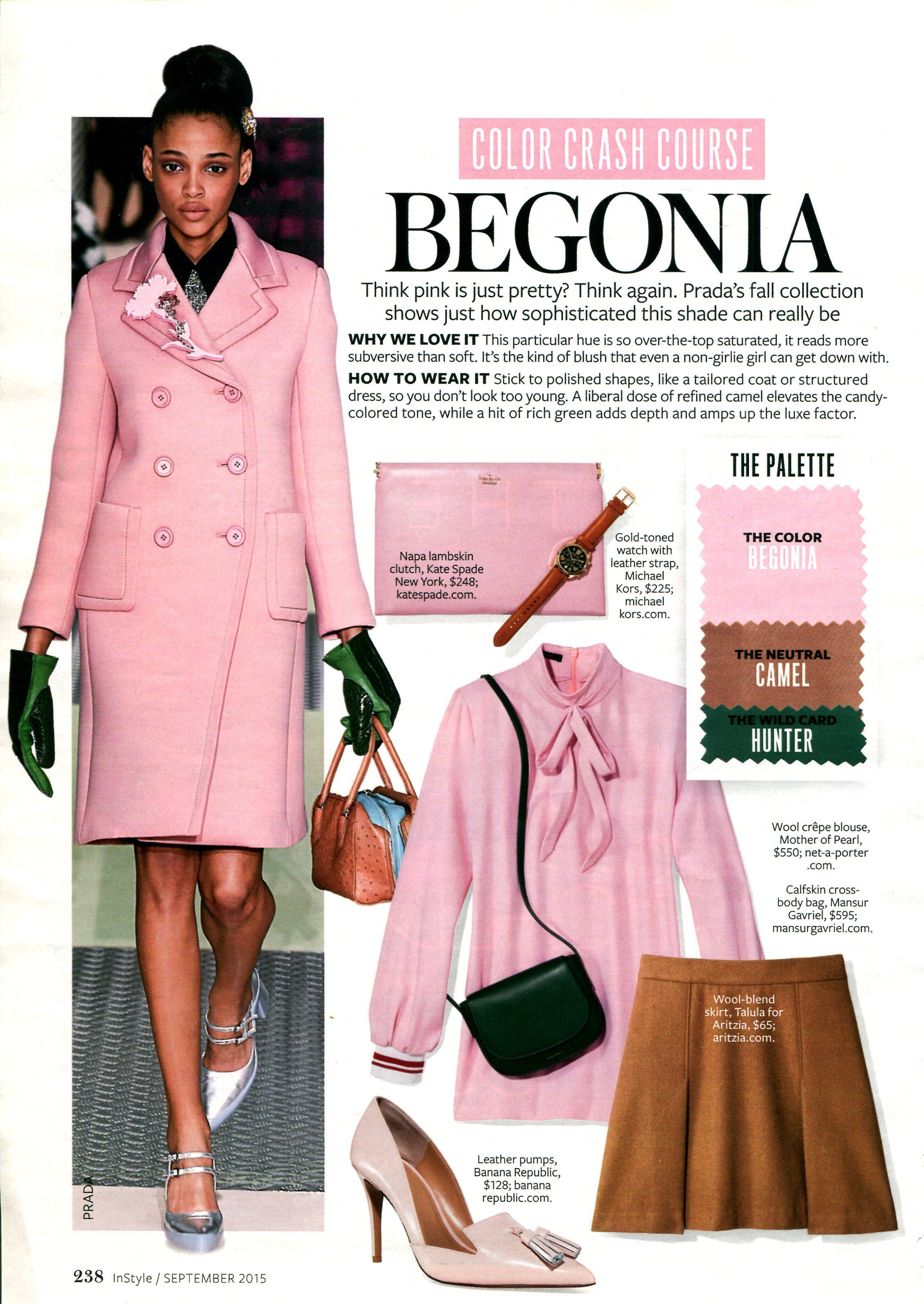 pink color combinations fashion