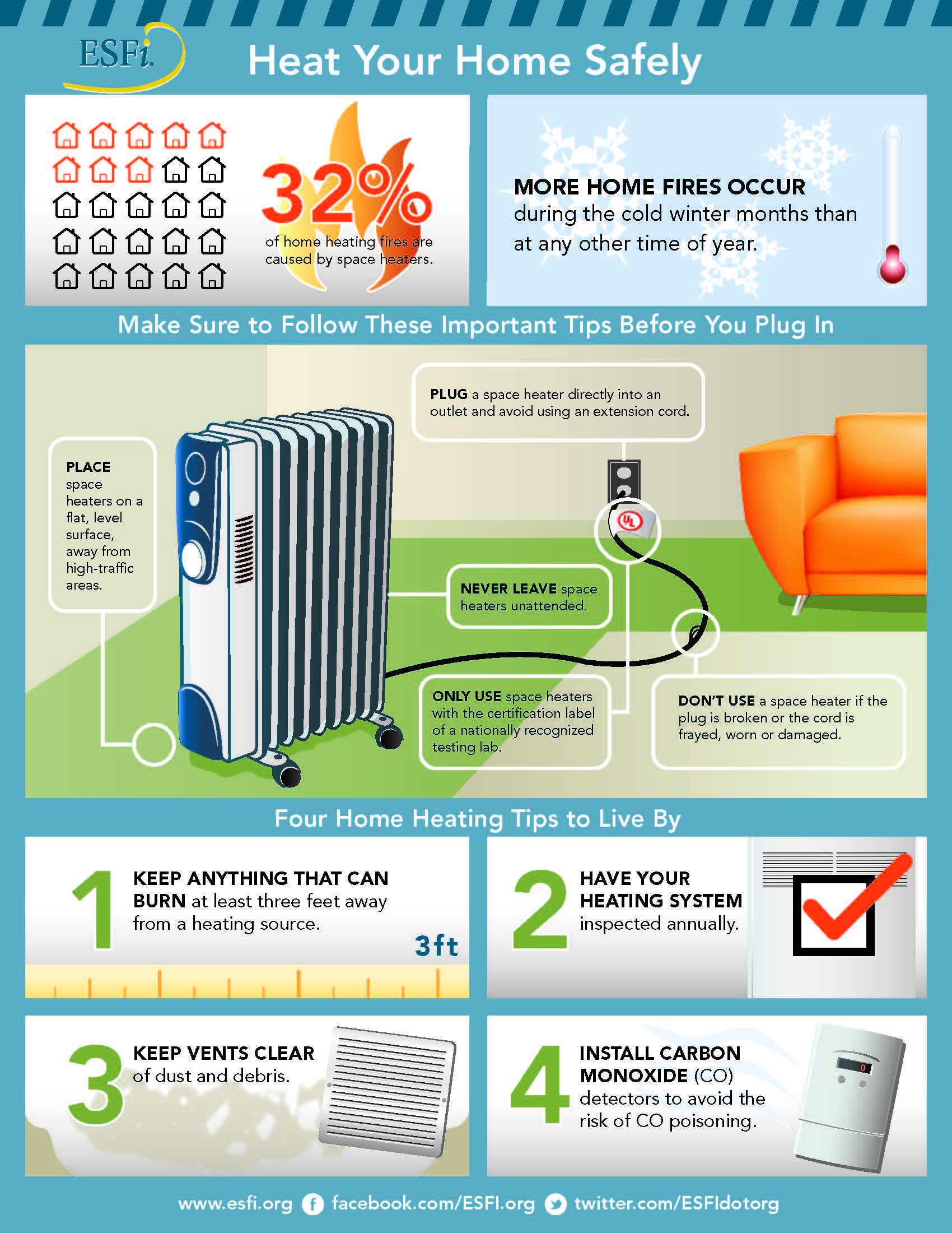 Fight the frigid weather and safely heat your home with