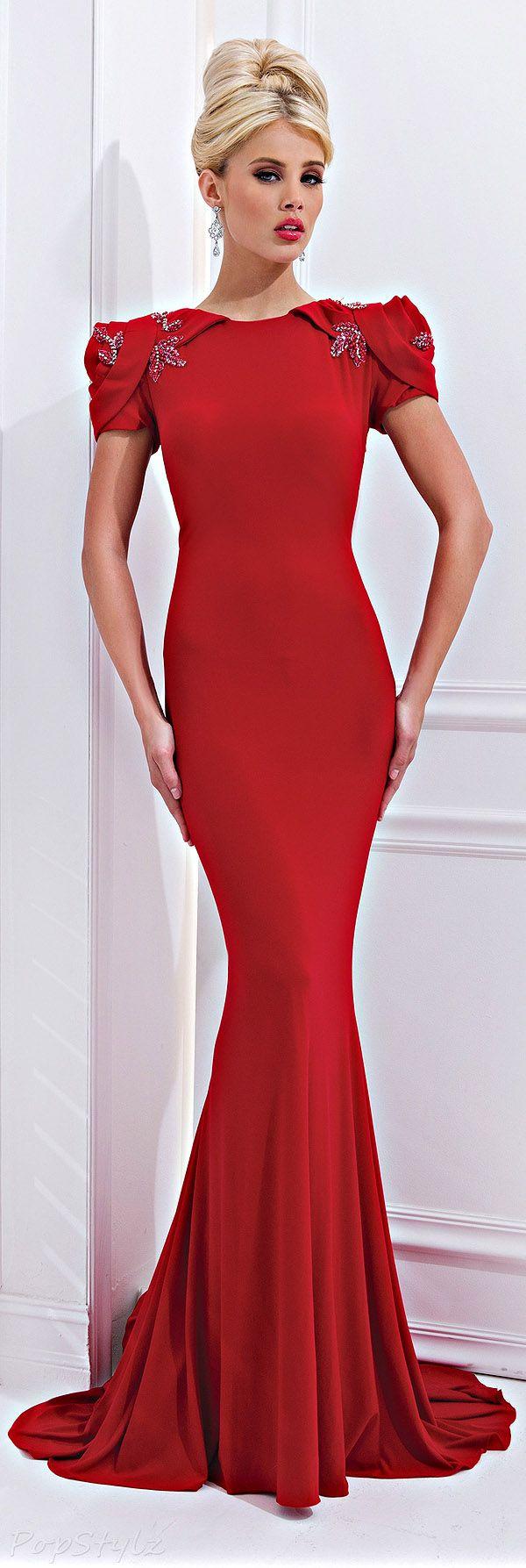 Tony bowls gorgeous red evening gown so elegant fashion