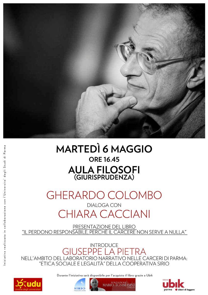 """Gherardo Colombo a Parma: """"Il perdono responsabile. Perché il carcere non serve a nulla"""""""