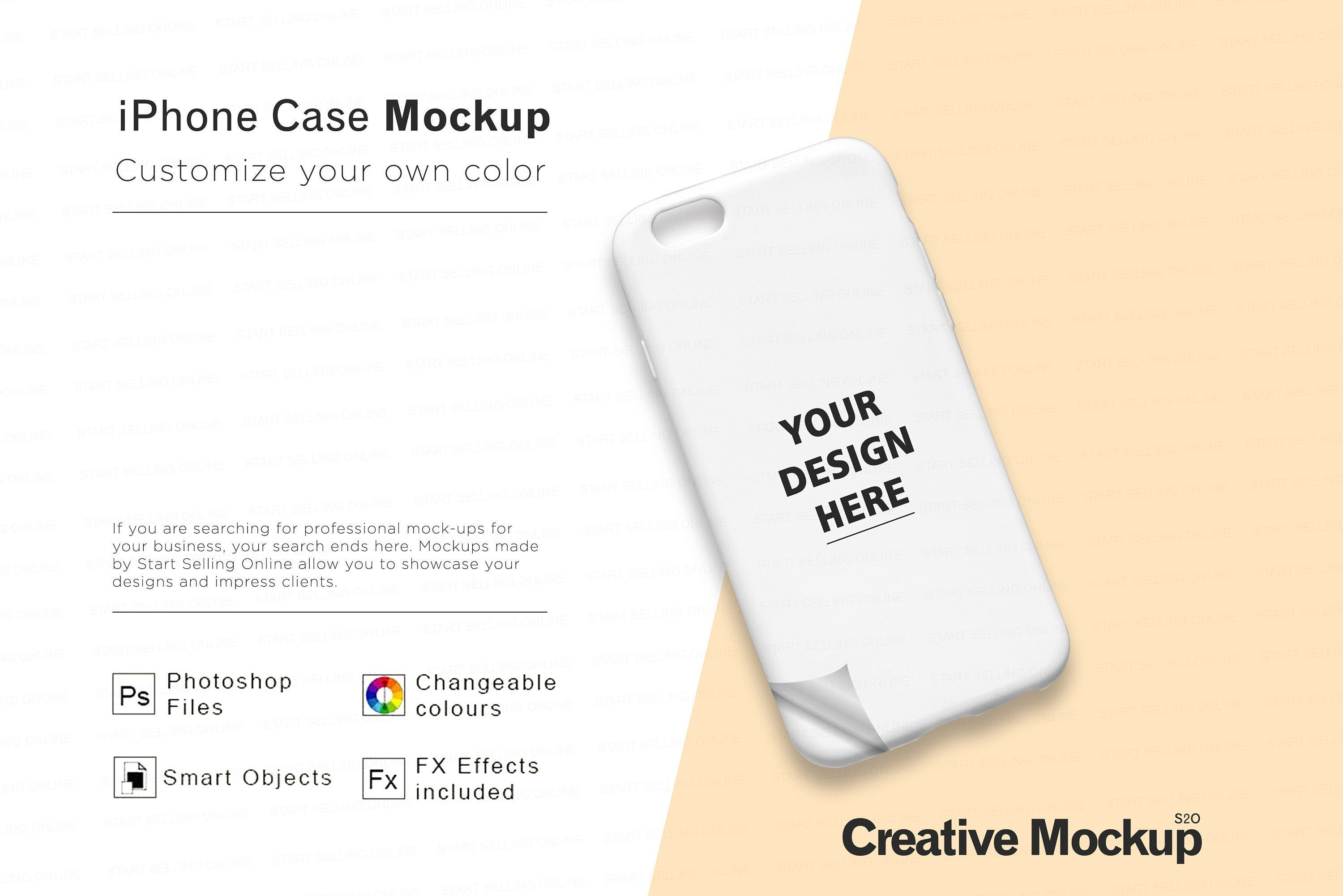 iPhone Case Mockup High Resolution Smart Objects