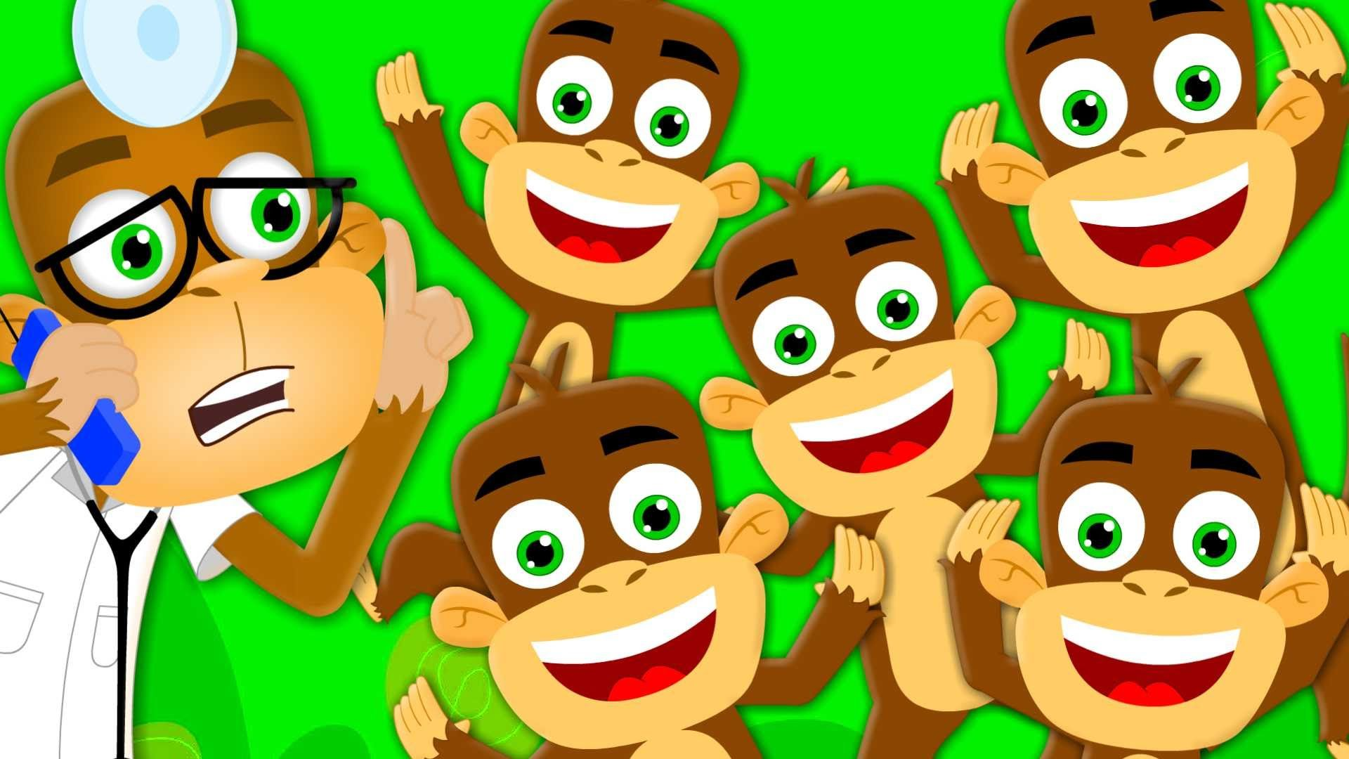 Five Little Monkeys Jumping On The Bed Nursery Rhymes Kids Songs C Kids Video Songs Five Little Monkeys Nursery Rhymes Activities