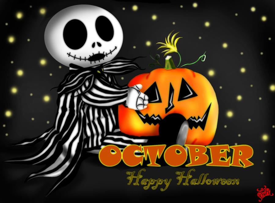 October Happy Halloween Halloween Images Jack Skellington Halloween Facebook Cover