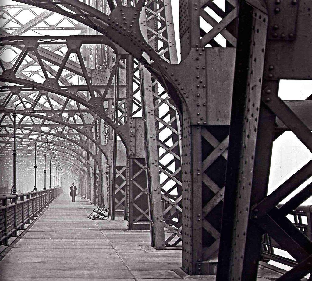 """Eugene de Salignac, """"Queensboro Bridge,"""" 1910"""