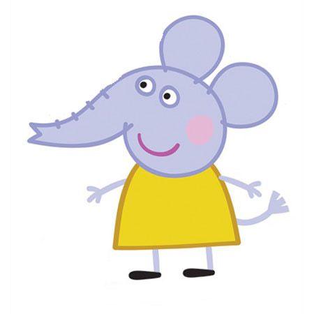 Peppa pig cartone animato famiglia di peppa pig emily elefante